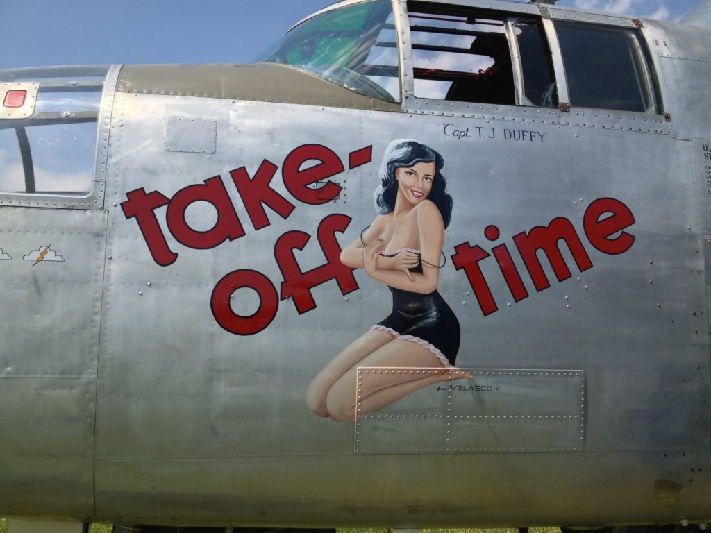 take-off nose art